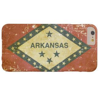 Capa Barely There Para iPhone 6 Plus Bandeira patriótica gasta do estado de Arkansas