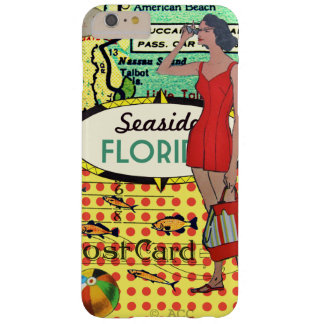 Capa Barely There Para iPhone 6 Plus Beira-mar de Florida que banha o fato de banho