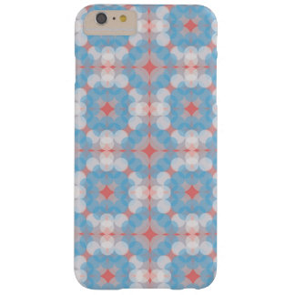 Capa Barely There Para iPhone 6 Plus Blue Kaleidoscope Pattern