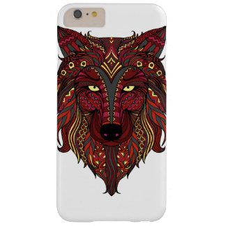 Capa Barely There Para iPhone 6 Plus Cabeça das cinzas do amarelo do lobo vermelho