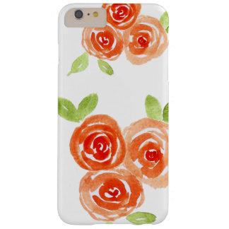 Capa Barely There Para iPhone 6 Plus Caixa alaranjada do móbil dos rosas