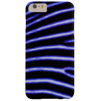 Capa Barely There Para iPhone 6 Plus Caixa azul de néon da zebra