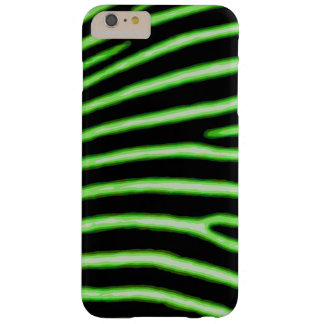 Capa Barely There Para iPhone 6 Plus Caixa verde de néon da zebra