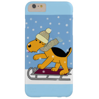 Capa Barely There Para iPhone 6 Plus Cão de Airedale Terrier no iPhone 6/6s do trenó