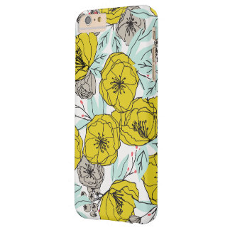 Capa Barely There Para iPhone 6 Plus Caso floral corajoso moderno