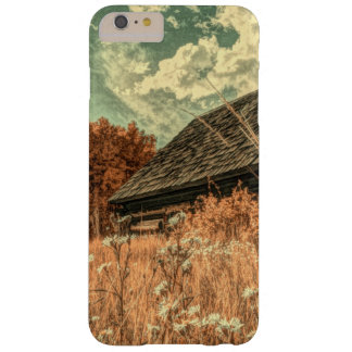 Capa Barely There Para iPhone 6 Plus celeiro velho da fazenda do wildflower do campo do