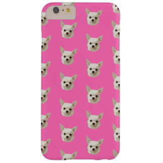 Capa Barely There Para iPhone 6 Plus Chihuahua cor-de-rosa