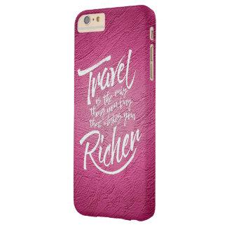 Capa Barely There Para iPhone 6 Plus Citações de viagem - design artístico