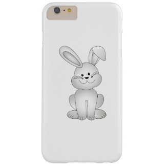 Capa Barely There Para iPhone 6 Plus Clipart branco do coelho