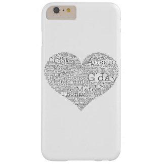 Capa Barely There Para iPhone 6 Plus Coração australiano do calão
