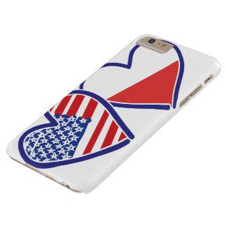 Capa Barely There Para iPhone 6 Plus Corações da bandeira do Polônia dos EUA