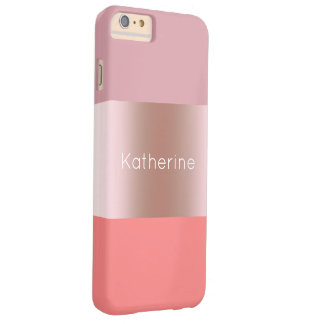 Capa Barely There Para iPhone 6 Plus Coral cor-de-rosa do rosa do ouro do pintinho