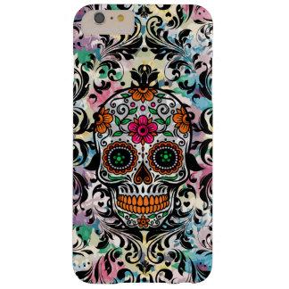 Capa Barely There Para iPhone 6 Plus Crânio floral colorido do açúcar & redemoinhos do