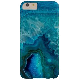 Capa Barely There Para iPhone 6 Plus Cristal azul Geode da ágata