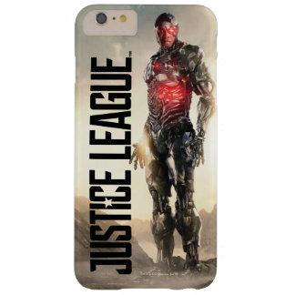 Capa Barely There Para iPhone 6 Plus Cyborg da liga de justiça | no campo de batalha
