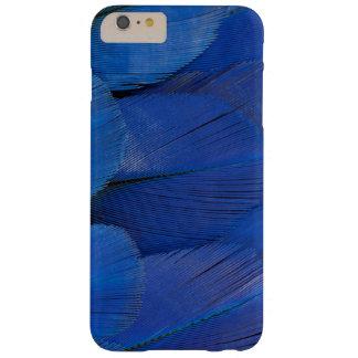 Capa Barely There Para iPhone 6 Plus Design azul da pena do Macaw do jacinto