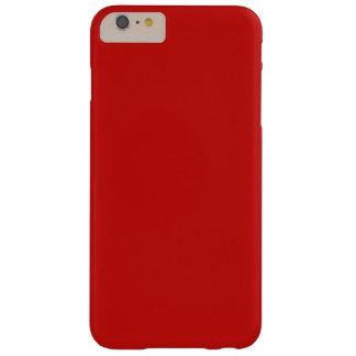 Capa Barely There Para iPhone 6 Plus Design da cor vermelha