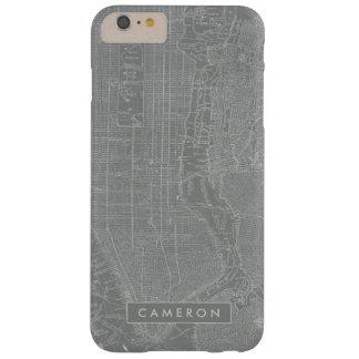 Capa Barely There Para iPhone 6 Plus Esboço do mapa da Nova Iorque