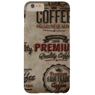 Capa Barely There Para iPhone 6 Plus Etiquetas retros do café para amantes do café