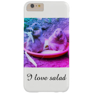 Capa Barely There Para iPhone 6 Plus Eu amo os cobrir do telefone da salada por Jane