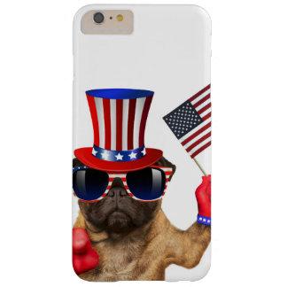 Capa Barely There Para iPhone 6 Plus Eu quero-o, pug, cão do tio Sam,