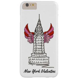 Capa Barely There Para iPhone 6 Plus Exemplo do arranha-céus do Cupido NYC do rosa dos
