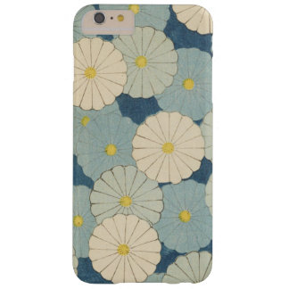Capa Barely There Para iPhone 6 Plus Floral azul japonês do vintage