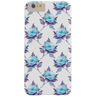 Capa Barely There Para iPhone 6 Plus Flores 4 do azul
