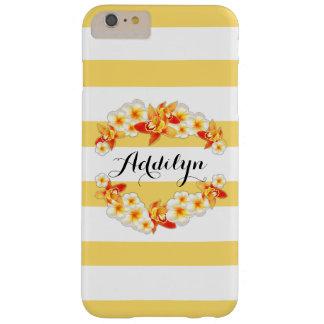 Capa Barely There Para iPhone 6 Plus Flores da orquídea e do Plumeria, elegantes