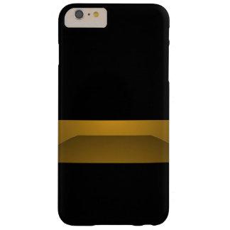 Capa Barely There Para iPhone 6 Plus Forma chique na moda do minimalismo preto elegante