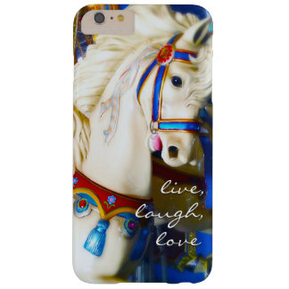 "Capa Barely There Para iPhone 6 Plus ""Foto branca do cavalo do carrossel das citações"