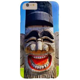 Capa Barely There Para iPhone 6 Plus Foto de madeira de riso de sorriso da cara dos