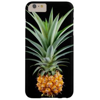 Capa Barely There Para iPhone 6 Plus fundo preto minimalista elegante do abacaxi |