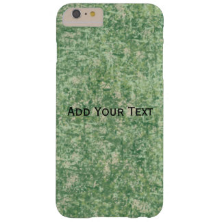 Capa Barely There Para iPhone 6 Plus Fundo Textured verde por Shirley Taylor