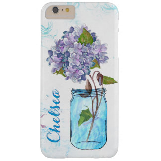 Capa Barely There Para iPhone 6 Plus Hydrangea do Lilac no frasco azul luminoso