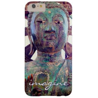 """Capa Barely There Para iPhone 6 Plus """"Imagine"""" a foto asiática da cabeça da estátua de"""