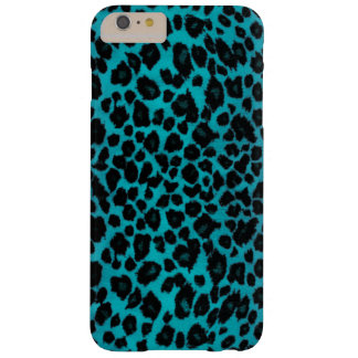 Capa Barely There Para iPhone 6 Plus Impressão do leopardo de turquesa