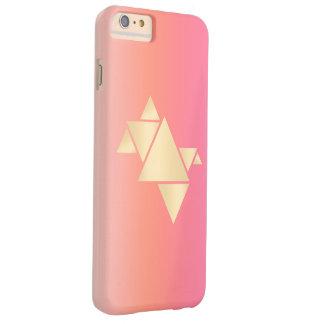 Capa Barely There Para iPhone 6 Plus Inclinação alaranjado cor-de-rosa geométrico do