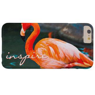 """Capa Barely There Para iPhone 6 Plus """"Inspire"""" as citações bonitos, foto alaranjada"""
