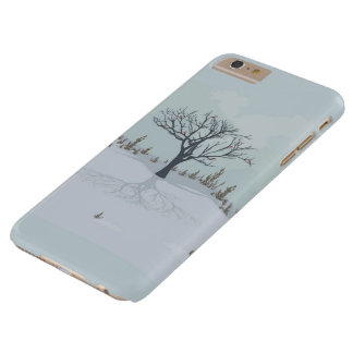 Capa Barely There Para iPhone 6 Plus Inverno landscape.iPhone/caso do iPad