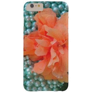 Capa Barely There Para iPhone 6 Plus iPhone 6 hibiscus alaranjados positivos na miçanga