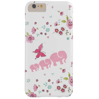 Capa Barely There Para iPhone 6 Plus iPhone bonito do elefante e das flores/caso do