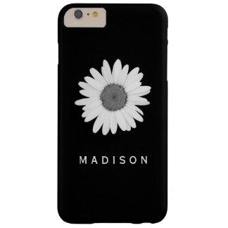 Capa Barely There Para iPhone 6 Plus IPhone eu telefono à caixa preto e branco da flor