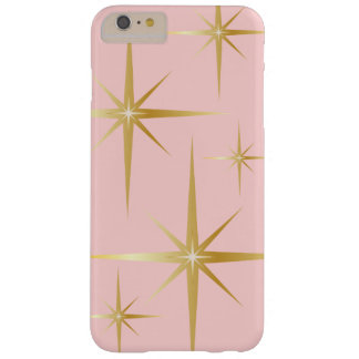 Capa Barely There Para iPhone 6 Plus iPhone retro 6/6S de Starburst mais o caso - rosa
