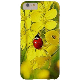 Capa Barely There Para iPhone 6 Plus Joaninha amarelo do vermelho da boa sorte da flor