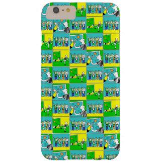 Capa Barely There Para iPhone 6 Plus Jogadores de futebol & fãs