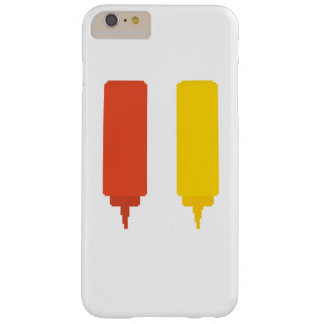 Capa Barely There Para iPhone 6 Plus Ketchup e mostarda Iphone 6+ Caso