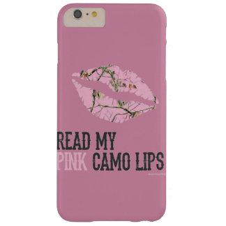 Capa Barely There Para iPhone 6 Plus lábios cor-de-rosa do camo