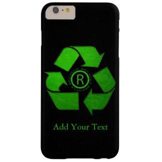 Capa Barely There Para iPhone 6 Plus Logotipo do reciclar por Shirley Taylor