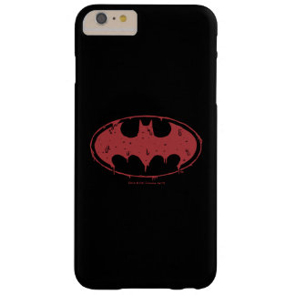 Capa Barely There Para iPhone 6 Plus Logotipo Oozing do bastão vermelho de Batman |